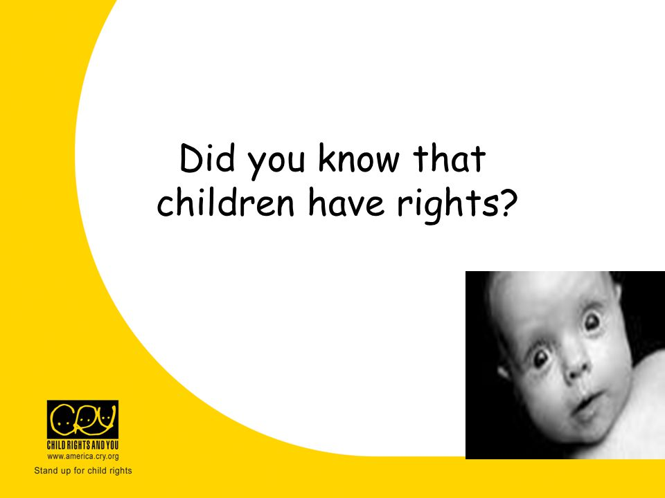 Did you know that children have rights