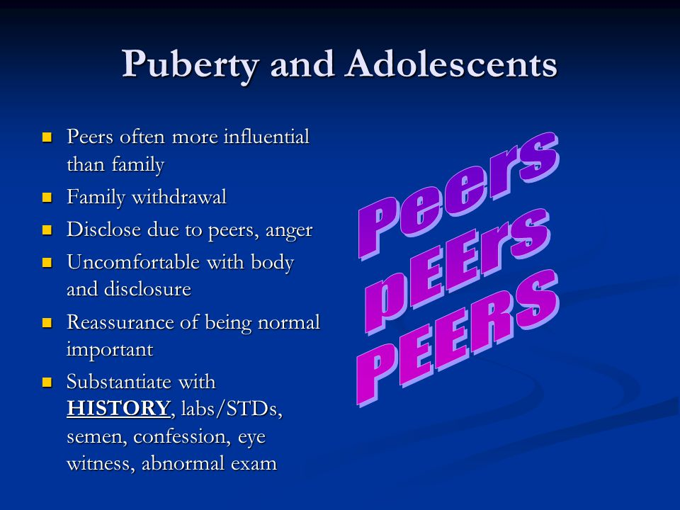 Puberty and Adolescents