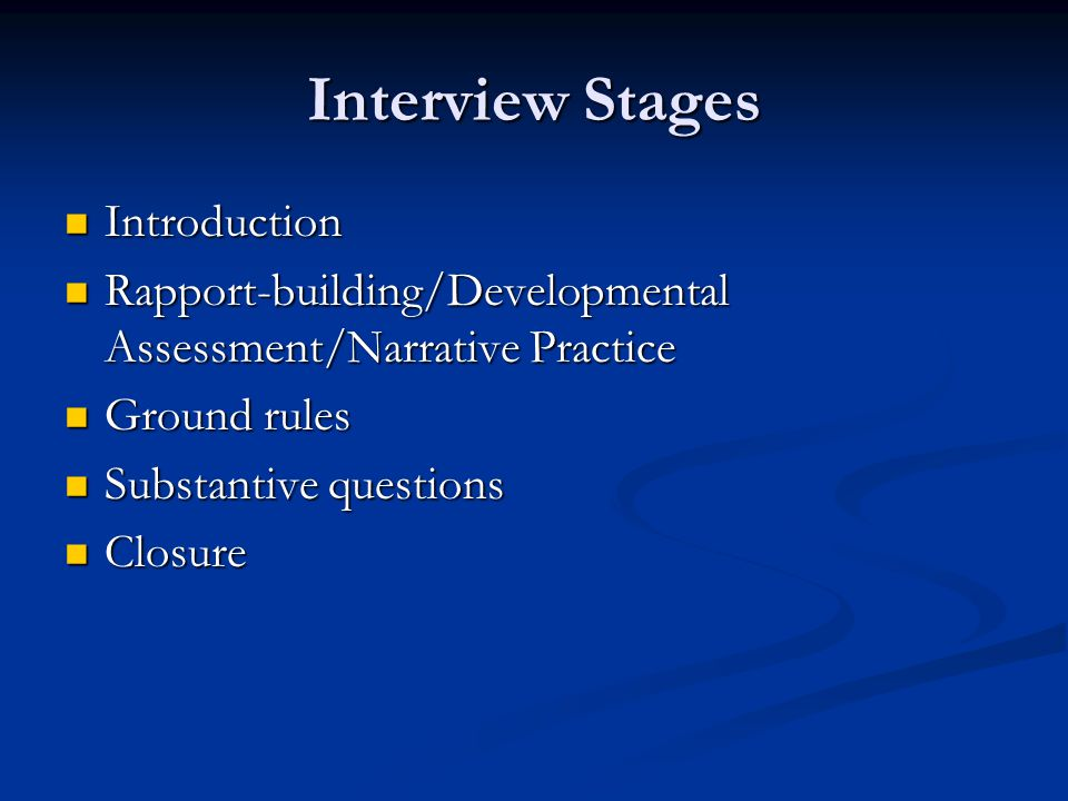 Interview Stages Introduction