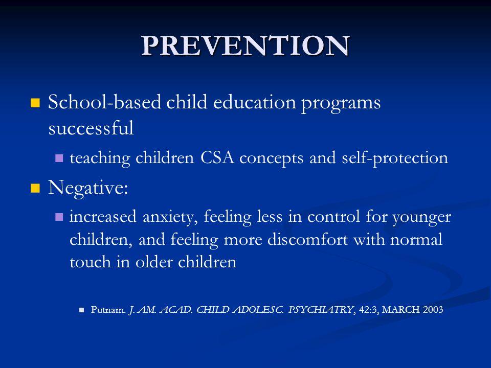 PREVENTION School-based child education programs successful Negative: