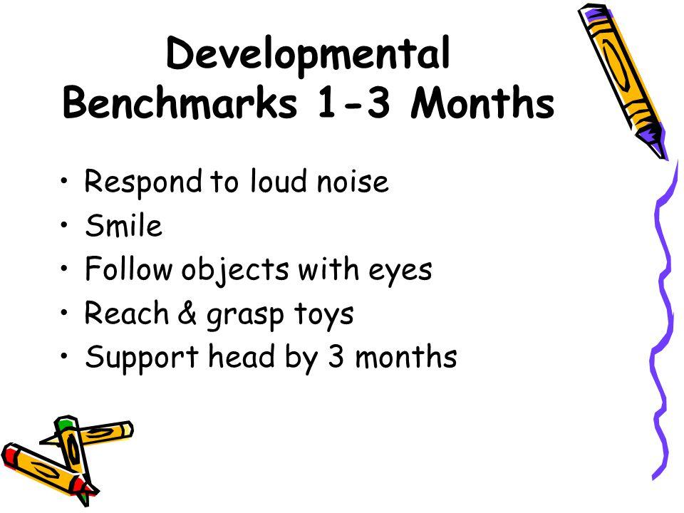 Developmental Benchmarks 1-3 Months