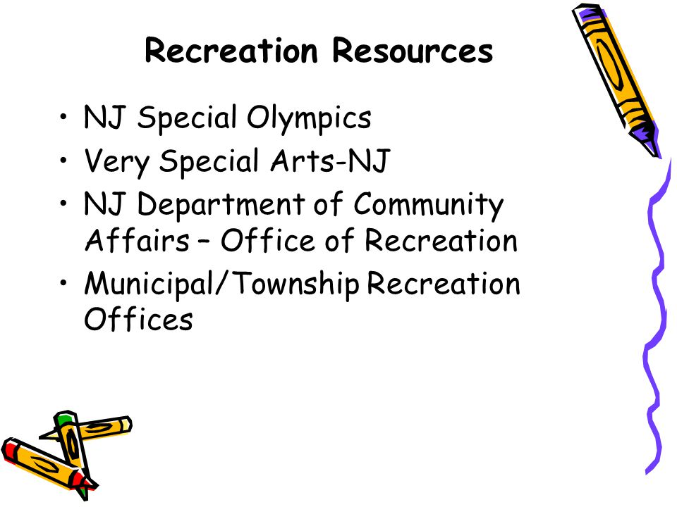 Recreation Resources NJ Special Olympics Very Special Arts-NJ