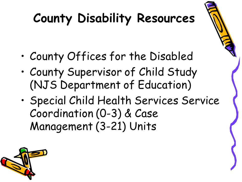 County Disability Resources