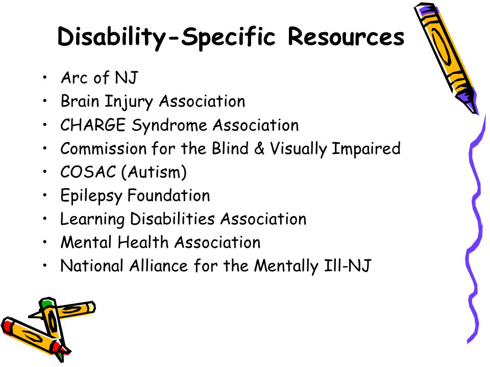 Disability-Specific Resources