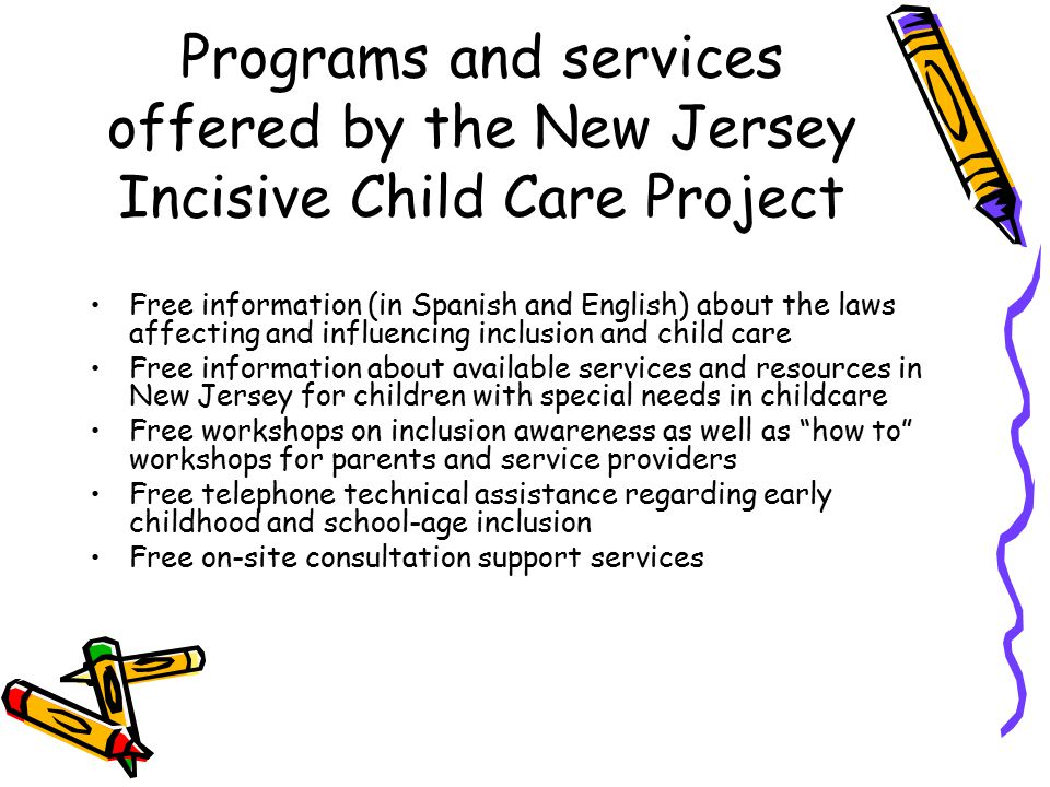 how to make program in childcare with inclusion