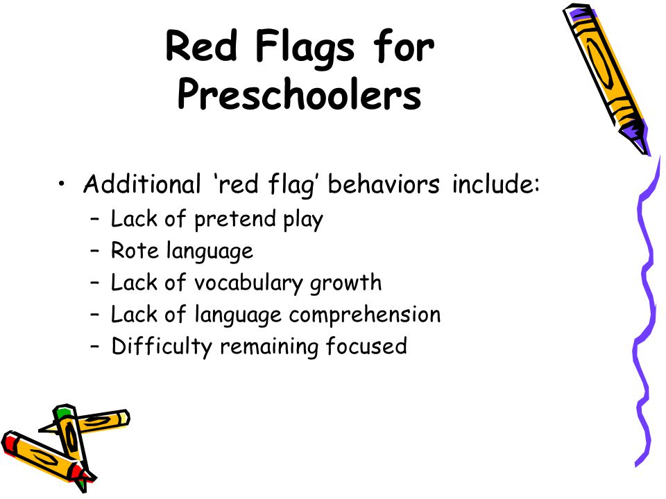 Red Flags for Preschoolers