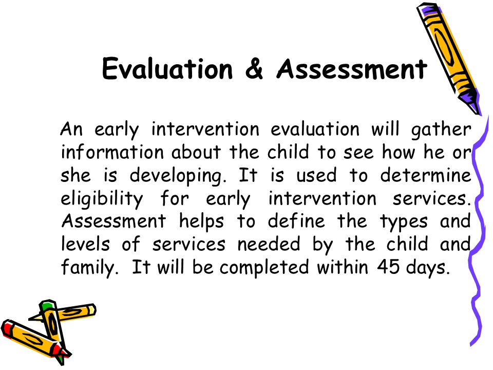 Evaluation & Assessment