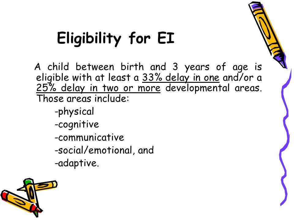 Eligibility for EI