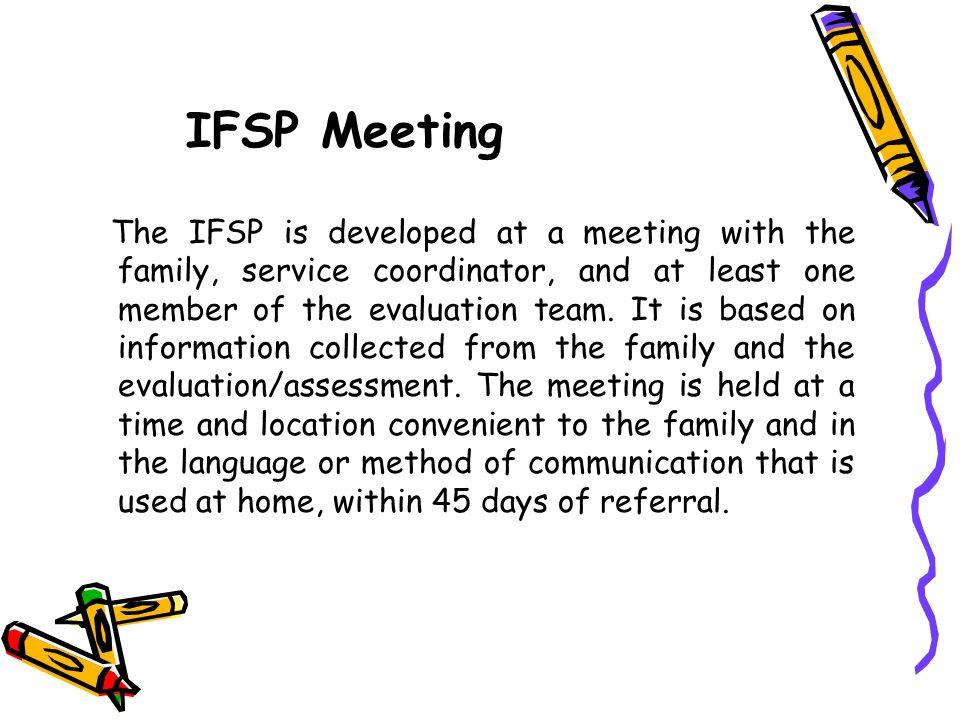 IFSP Meeting
