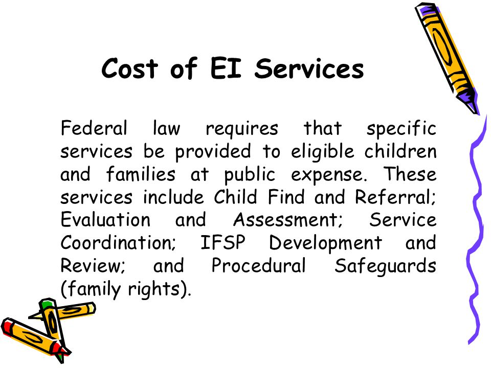 Cost of EI Services