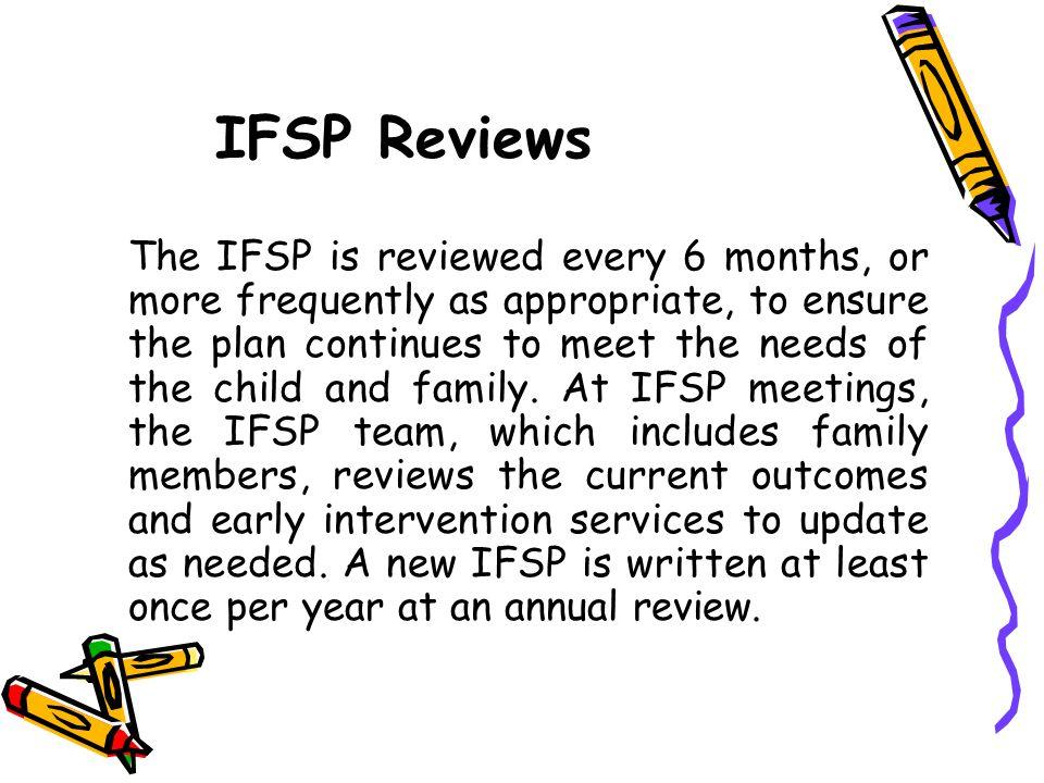 IFSP Reviews