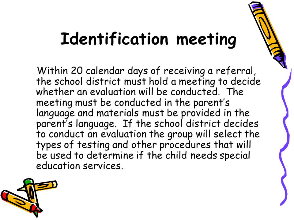 Identification meeting