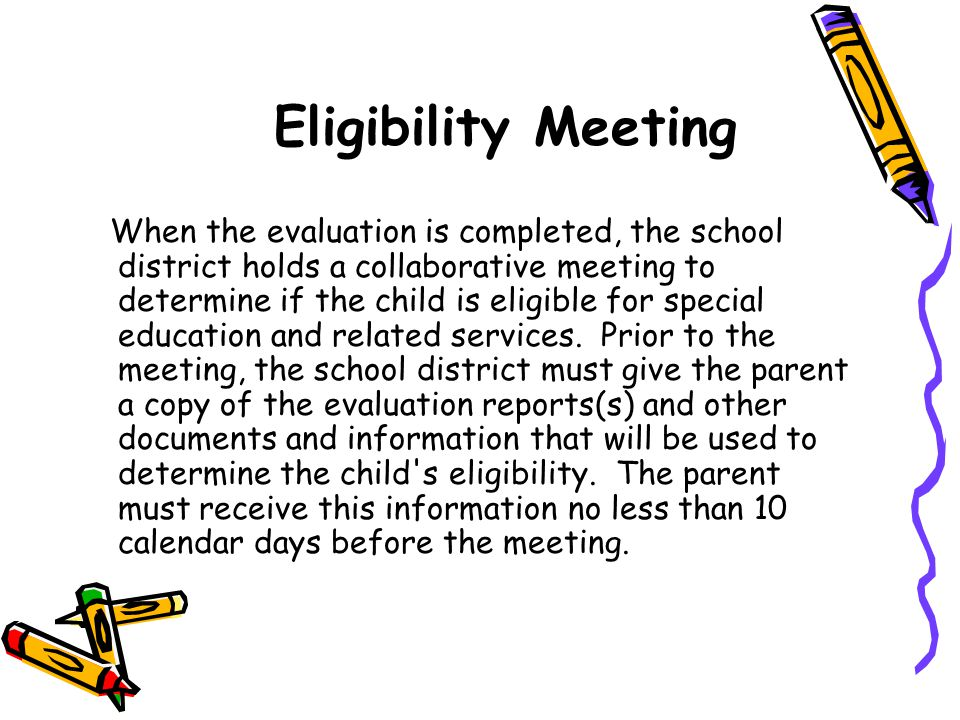 Eligibility Meeting