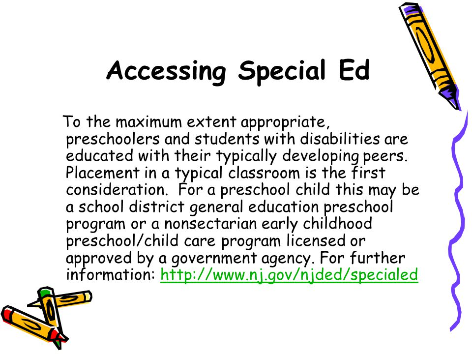 Accessing Special Ed