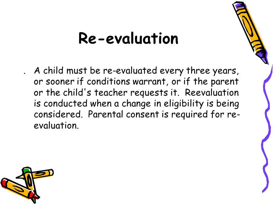 Re-evaluation