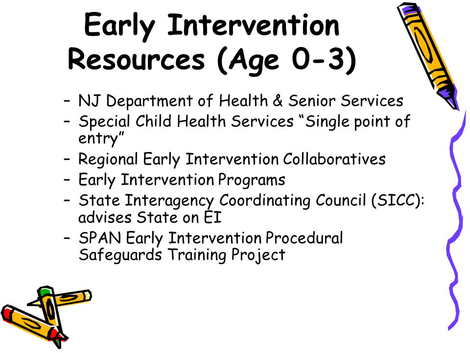 Early Intervention Resources (Age 0-3)
