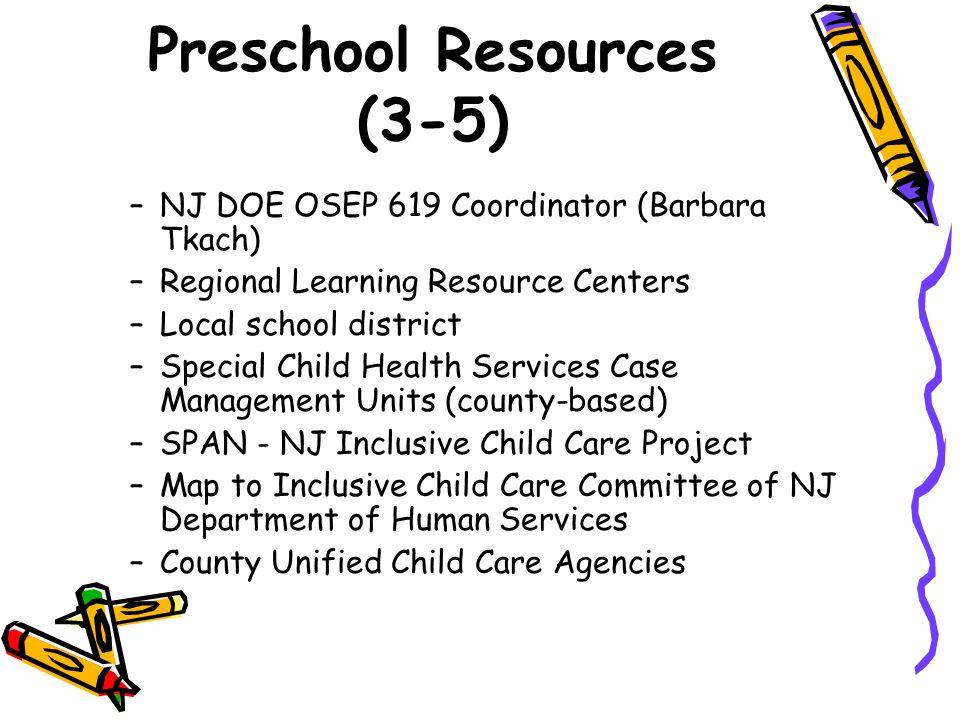 Preschool Resources (3-5)