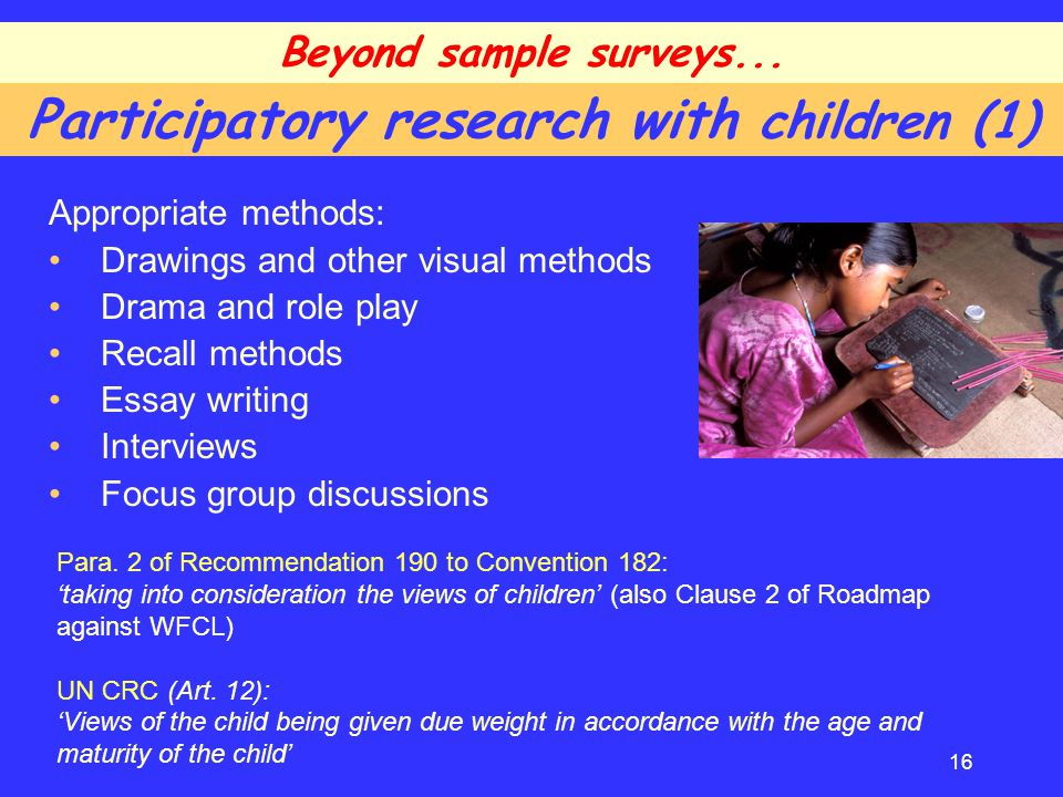 Participatory research with children (1)
