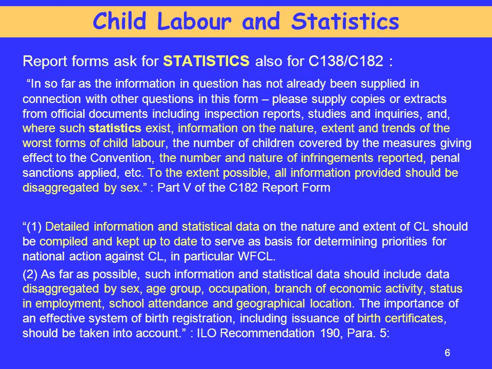 Child Labour and Statistics