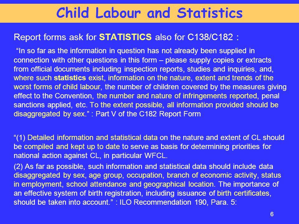 Child Labour and Statistics
