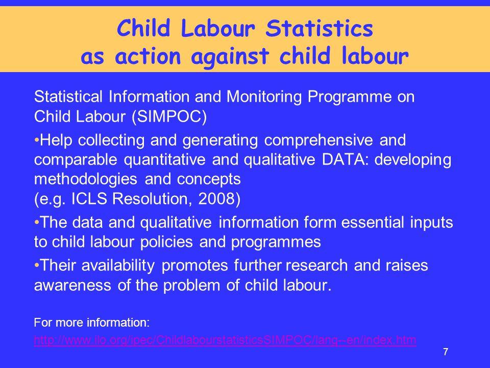 Child Labour Statistics as action against child labour
