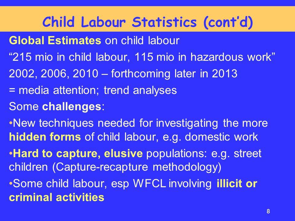 Child Labour Statistics (cont'd)