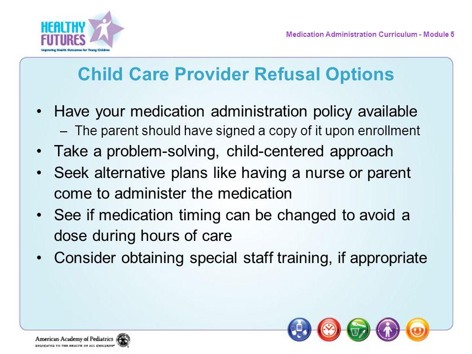 Child Care Provider Refusal Options