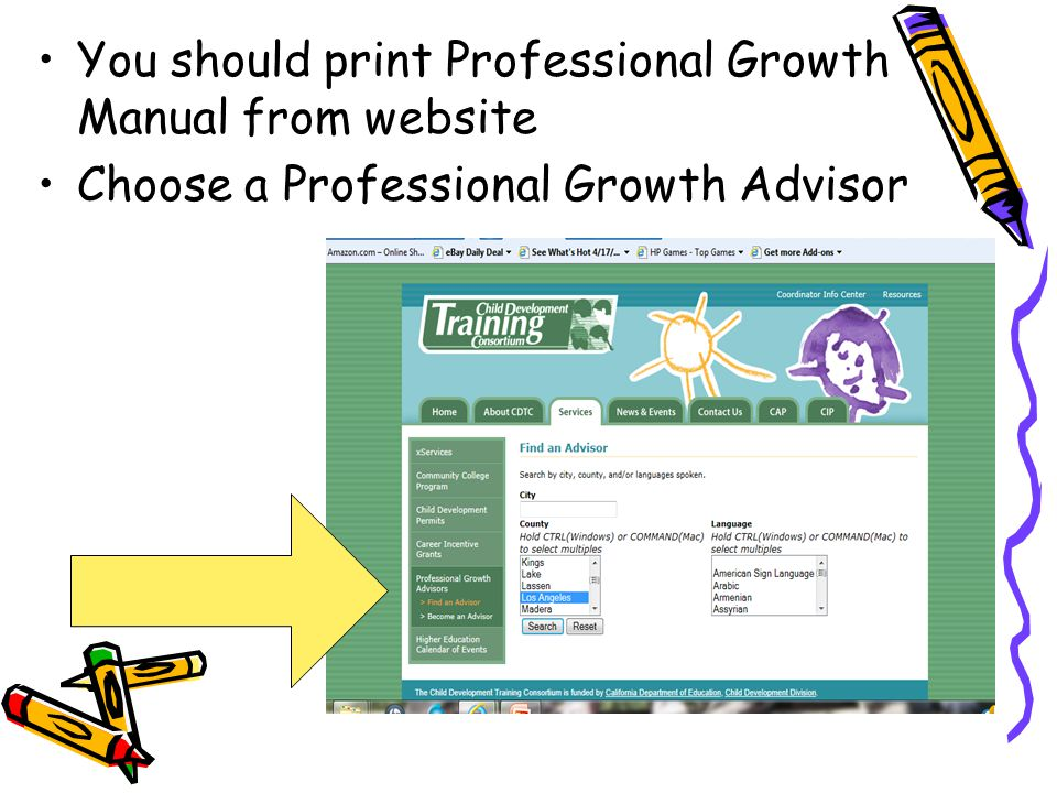 You should print Professional Growth Manual from website
