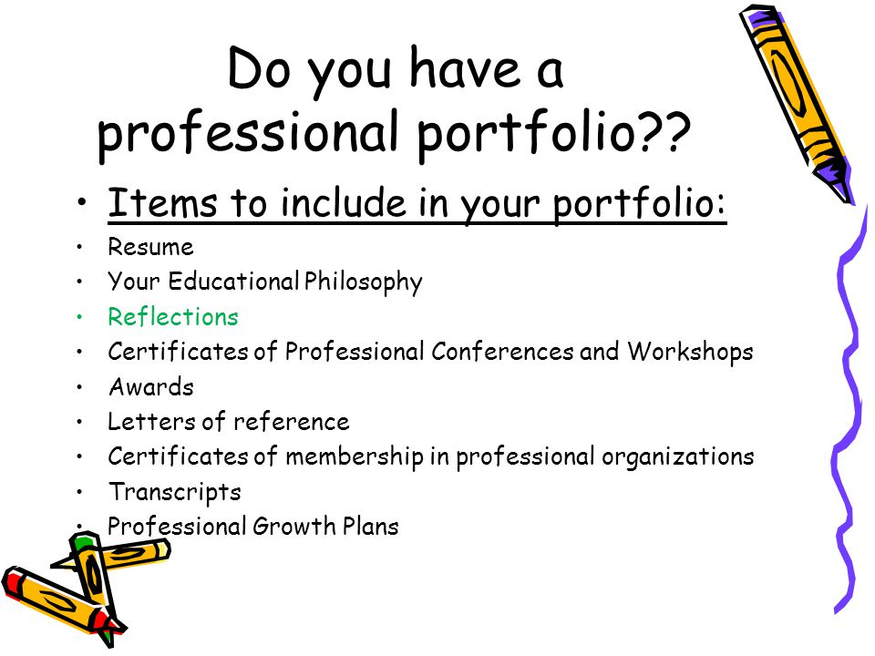 Do you have a professional portfolio