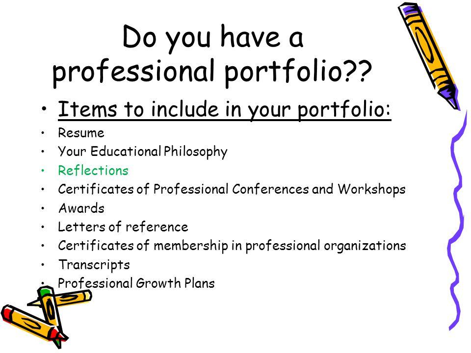 Do you have a professional portfolio
