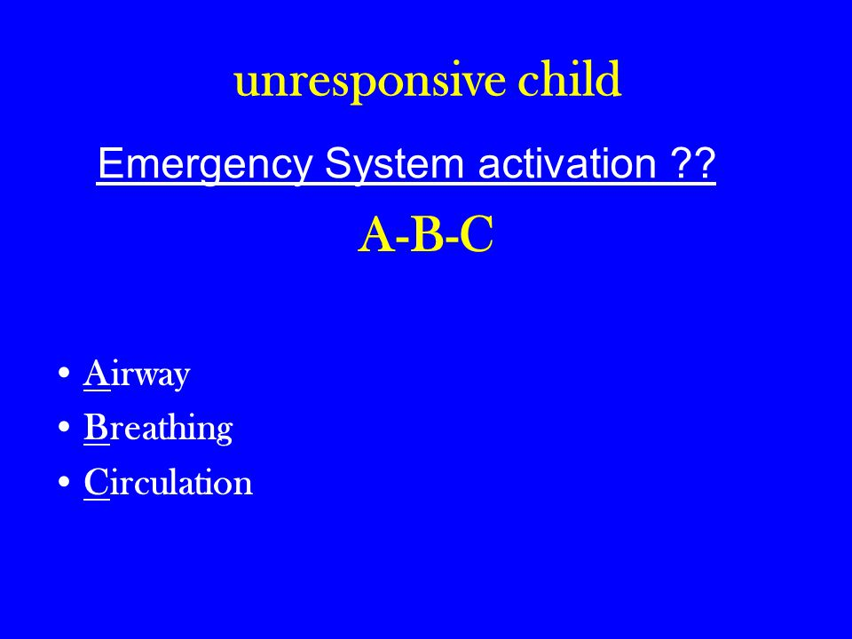 Emergency System activation