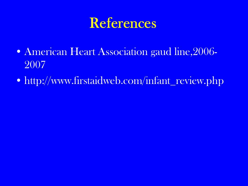 References American Heart Association gaud line,2006-2007