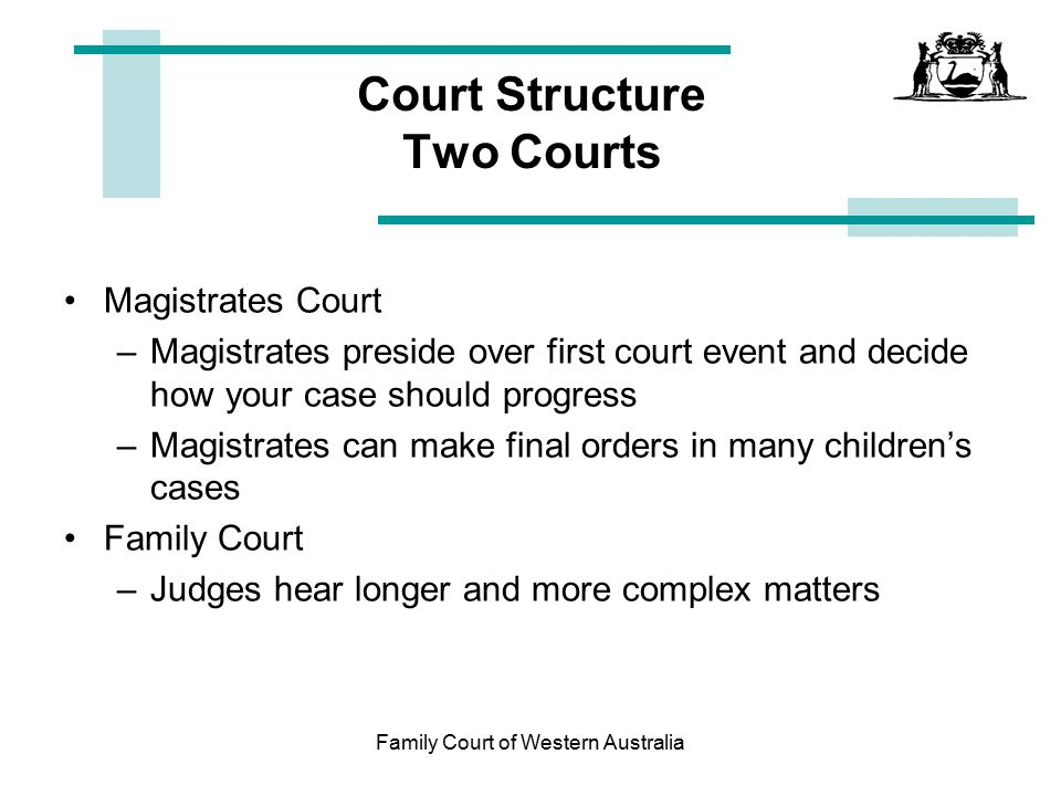 Court Structure Two Courts