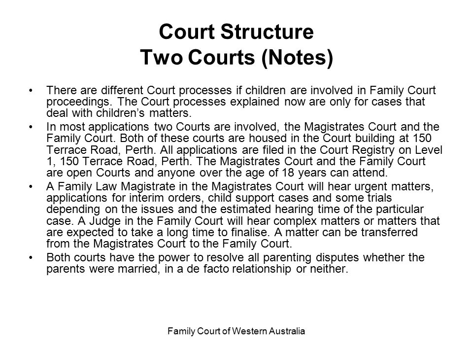Court Structure Two Courts (Notes)