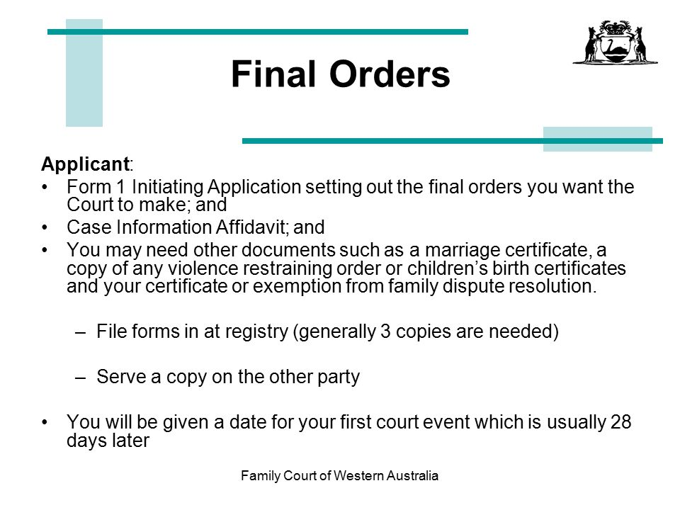 Court date lookup in Perth