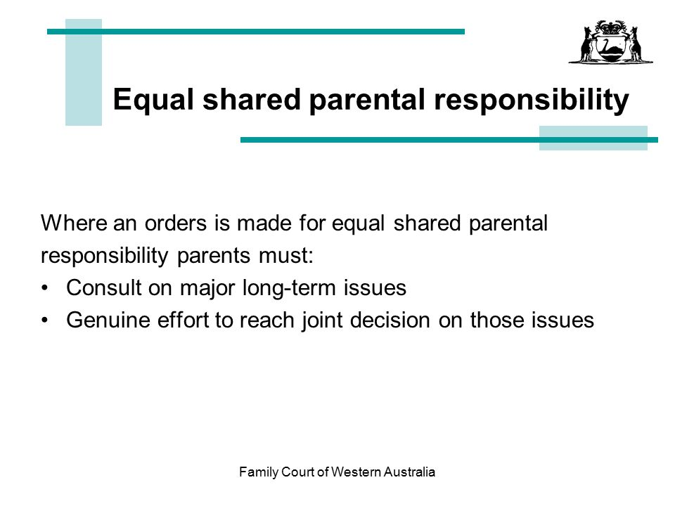Equal shared parental responsibility