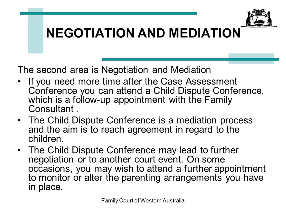 NEGOTIATION AND MEDIATION