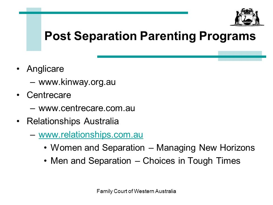 Post Separation Parenting Programs