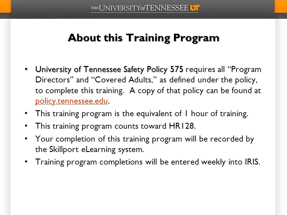 About this Training Program