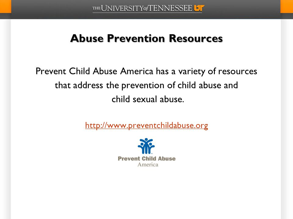 Abuse Prevention Resources
