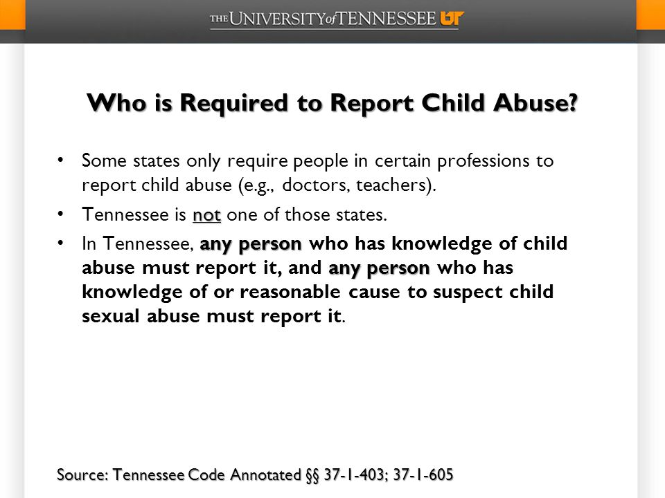Who is Required to Report Child Abuse