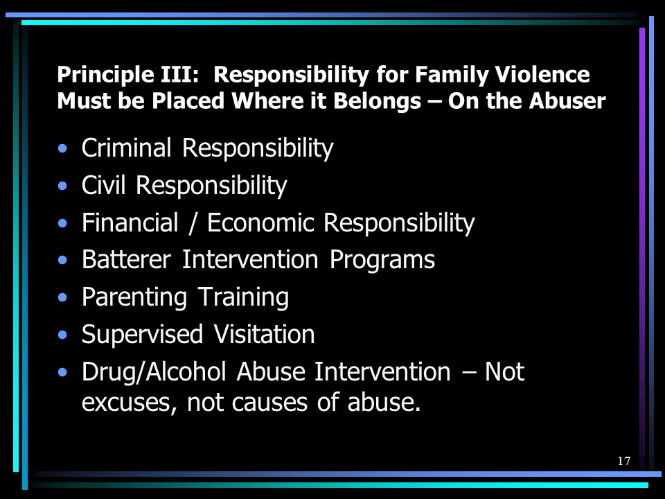 Criminal Responsibility Civil Responsibility