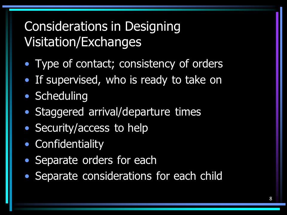 Considerations in Designing Visitation/Exchanges
