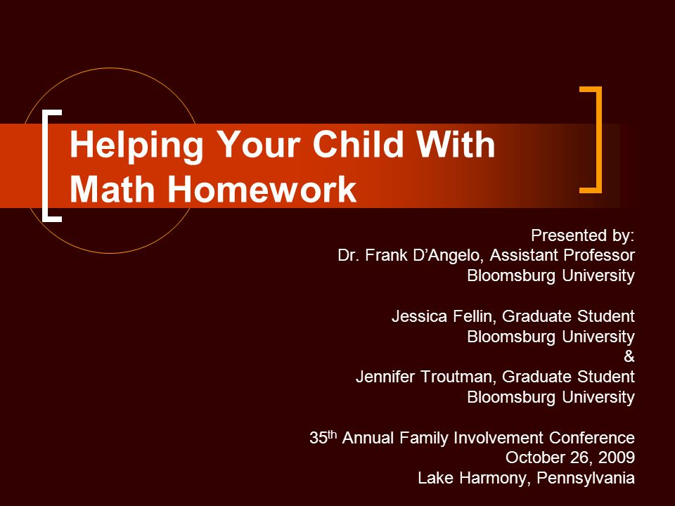 Helping Your Child With Math Homework