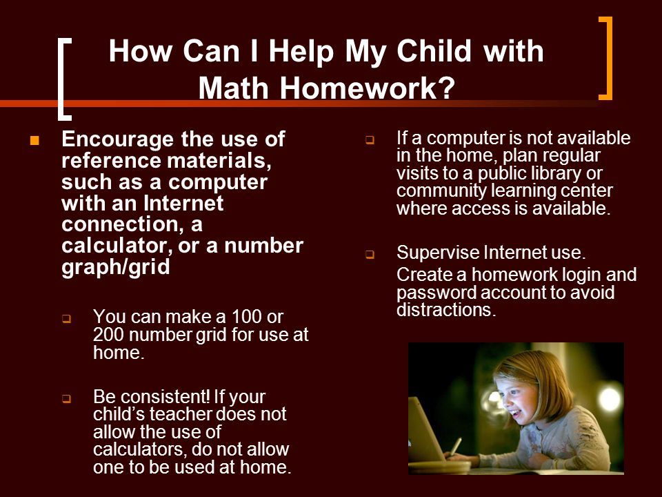 How Can I Help My Child with Math Homework