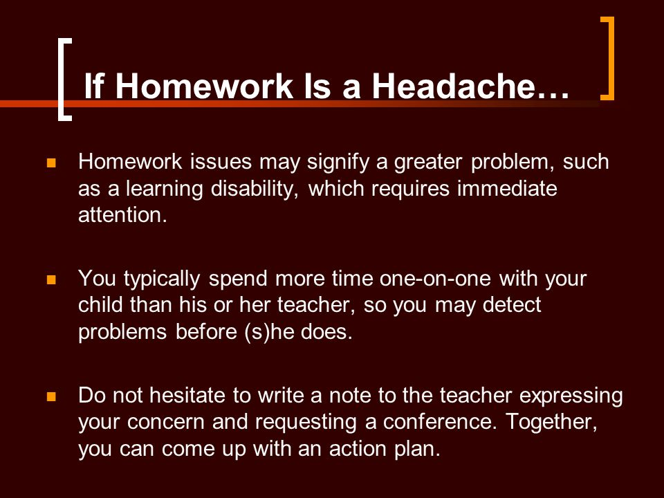 If Homework Is a Headache…