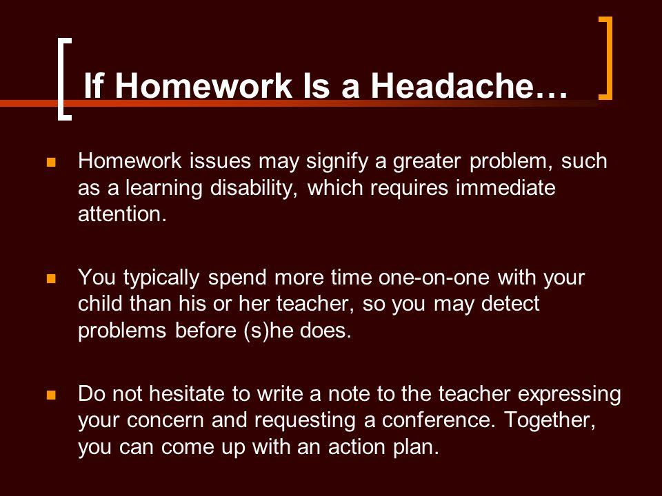If Homework Is a Headache…