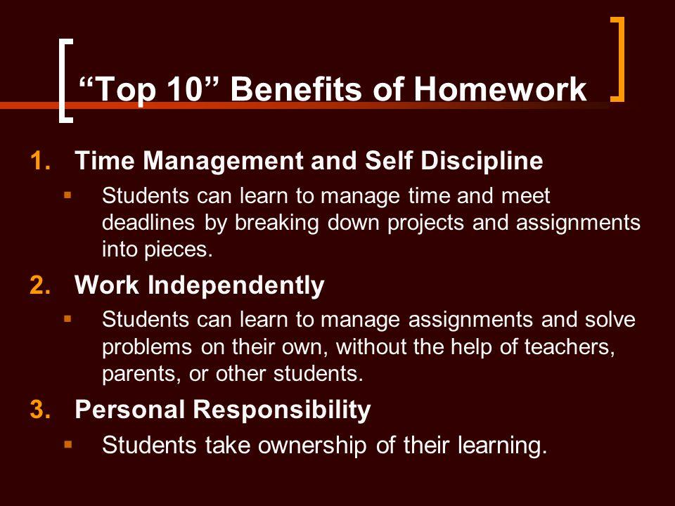 Benefits of homework help