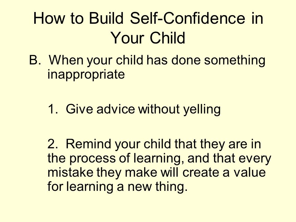How to Build Self-Confidence in Your Child