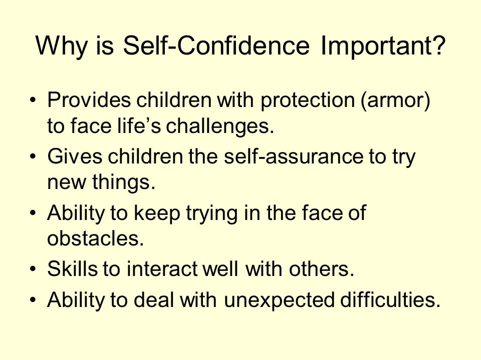Why is Self-Confidence Important